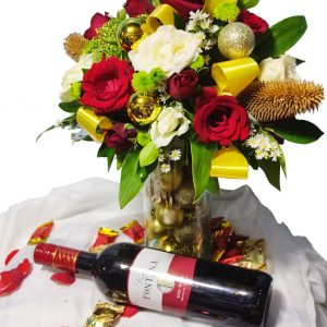 Wine And Flower Bundle