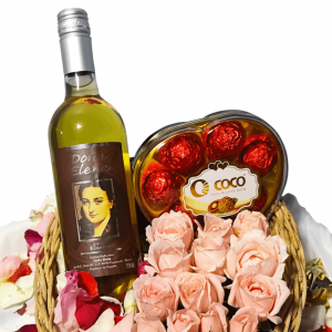 Wine, Chocolates and Flower Bundle 1